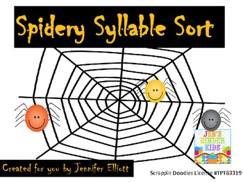 FREE Spidery Syllables
