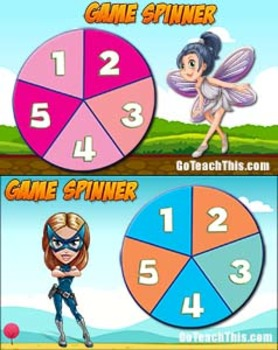 Game Spinners - 2 FREE Printable & 2 FREE Smartboard Game Spinners