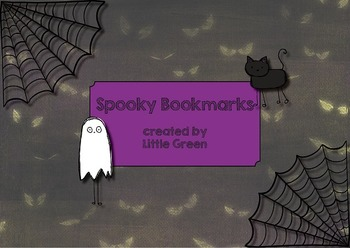 {FREE} Spooky Bookmarks for Halloween {UPDATED! Now includes Blackline Master!}