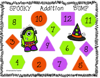 FREE Spooky Halloween Addition Bump Game