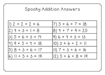{FREE} Spooky Math Addition Task Cards for Halloween {add 3 whole numbers to 20}