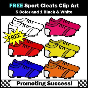 FREE Sports Theme, Cleats Clip Art, Sports Clip Art Footba