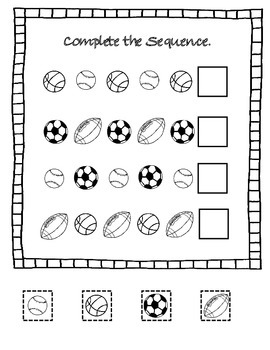 FREE Sports Themed Activities targeted Basic SKills Sequencing Matching Sorting