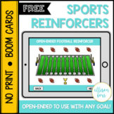 FREE Sports Themed Reinforcers BOOM Cards™️ Speech Therapy
