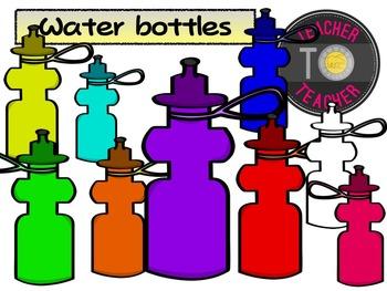 FREE Sports Water Bottles {TeacherToTeacher Clipart}