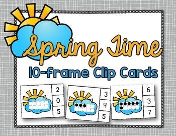 FREE Spring 10 Frame Clip Cards