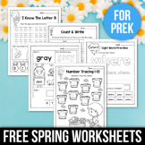 FREE Spring Activities For Kindergarten (Literacy No Prep)