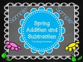 FREE Spring Addition and Subtraction Packet SAMPLE