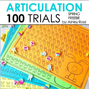 FREE Spring Articulation For 100 Trials in Speech Therapy