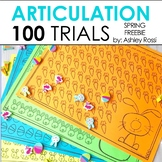 FREE Spring 100 Articulation Trials in Speech Therapy