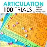 FREE Spring 100 Articulation & Apraxia Trials