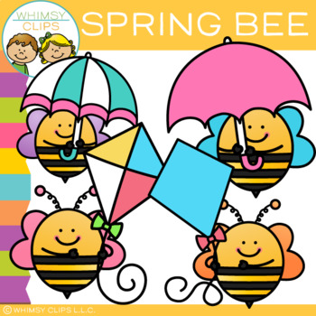 free spring bee clip art by whimsy clips teachers pay teachers rh teacherspayteachers com