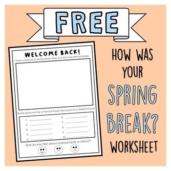 FREE Spring Break Worksheet