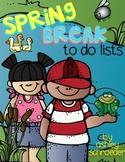 {FREE} Spring Break to-do list pack :)