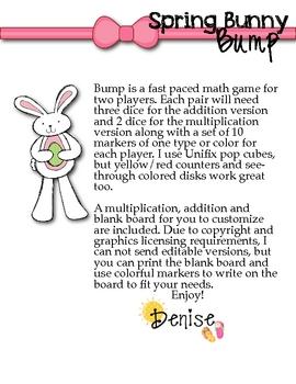 FREE Spring Bunny Bump Games