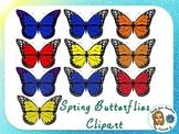 Spring Butterflies Clipart