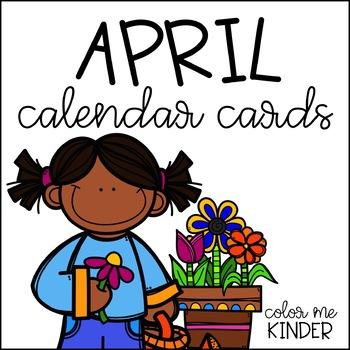 FREE Spring Themed April Calendar Cards Pack