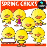 Spring Chicklets Clip Art Bundle {Educlips Clipart}