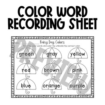 FREE Spring Color Sort Activity and Worksheet