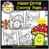 FREE Spring Coloring Pages (School Designhcf) - Freebie