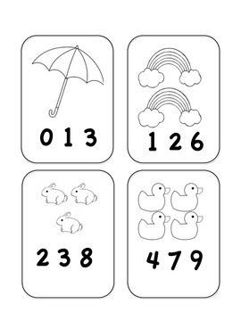 FREE!! Spring Math Count & Clip Cards Counting Numbers 1-10 1 to 1Correspondence