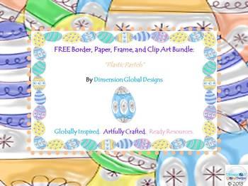FREE Spring Easter Border, Frame, Paper and Clip Art Bundle