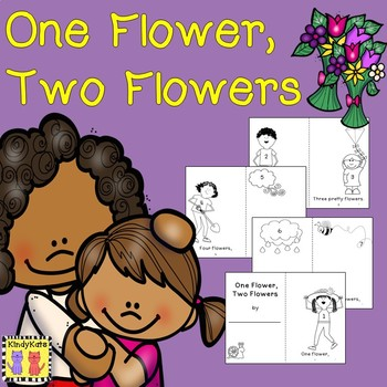 FREE Spring Emergent Reader Flowers, Counting, Mother's Day