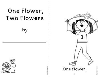 Spring Flowers Counting Mini-Booklet - FREE!