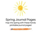 FREE Spring Journal Pages
