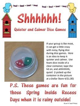 FREE Spring Math Dice Games
