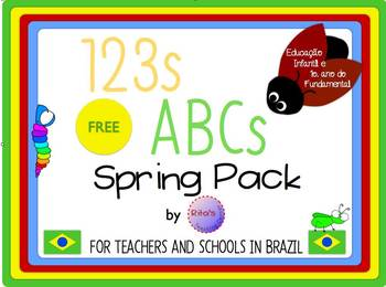 FREE Spring Pack in Portuguese for Brazilian Teachers and Schools