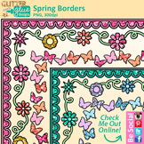 Spring Page Border Clip Art | Free Flower Frames for Worksheets & Activities