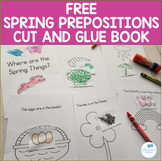 FREE Spring Prepositions Interactive Cut and Glue Book