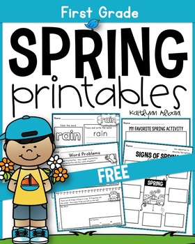 FREE Spring Printables - Math and Literacy