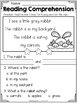 FREE Kindergarten Reading Comprehension (Spring Edition)