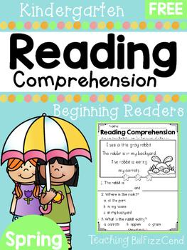 FREE Spring Reading Comprehension - Beginning Readers