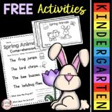 FREE Spring Reading Comprehension Passages - Writing Sentences - Animal Books