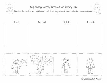 picture sequencing worksheets FREE Spring Sequencing Cut and Glue Worksheets by Communication Window