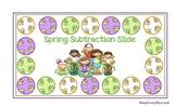 FREE Spring Subtraction Slide Game