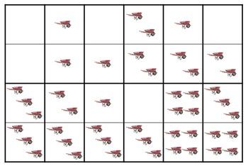 FREE Spring Themed Dominoes Preschool Math
