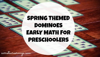 FREE Spring Themed Dominoes Preschool Math