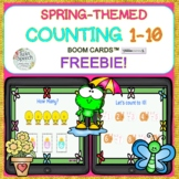 FREE! Spring-themed Counting 1-10 Boom Cards™