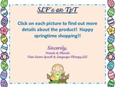 FREE Springtime Speech Therapy Document Wishlist With Links! -free handout