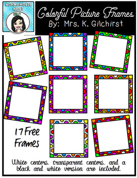 FREE Square Polka-Dotted Frames - 17 Frames in all