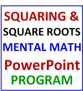 FREE Squaring & Square Roots PREVIEW Mental Math PowerPoint