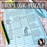 FREE Earth Day Activity Logic Puzzler DIGITAL AND PRINT OPTIONS