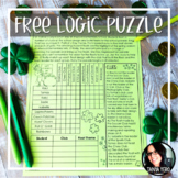 FREE St. Patrick's Day Activities Logic Puzzle Early Finisher Activity