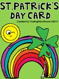 FREE St. Patrick's Day Card - English & Spanish