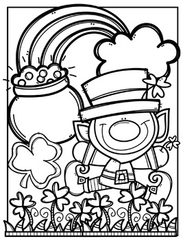 FREE St. Patrick\'s Day Coloring Pages {Made by Creative Clips Clipart}