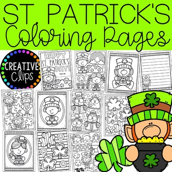 St Patrick S Day Coloring Pages Writing Papers Creative Clips Clipart